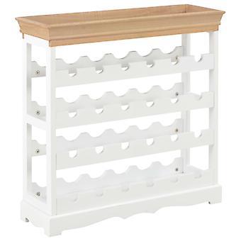 vidaXL винный шкаф Белый 70 x 22.5 x 70.5 см МДФ