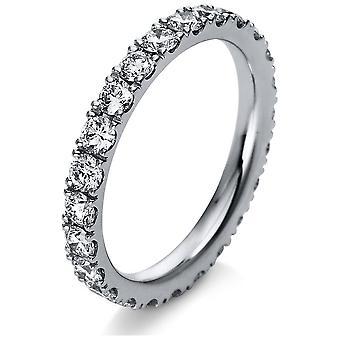 Luna Creation Infinity Ring Multiple Stone Trim 1R910W854-3 - Ring Width: 54
