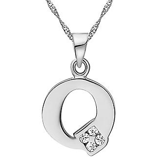 Necklace with pendant in the shape of a letter of the alphabet, for men and women. and base metal, color: Letter Q silver, cod. Ref. 4058433105157