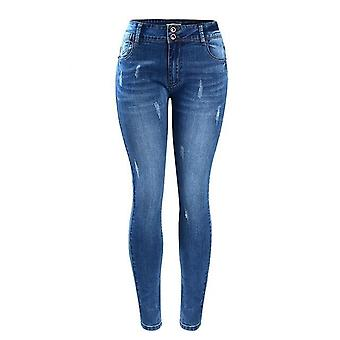 Basic Chic Style Fading Stretch Skinny Ture Denim Jeans