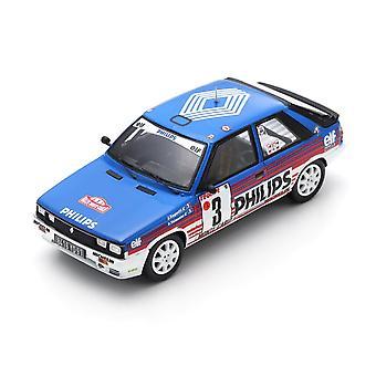 Renault 11 Turbo (Monte Carlo Rally 1987) en azul (escala 1:43 por Spark S5567)