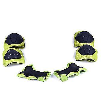 Grüne Kinder Schutzausrüstung Set Kniepolster für Kinder 3-14 Jahre Kleinkind Knie x4994