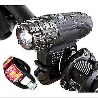 Style3 usb rechargeable bike light set bicycle accessories for night riding x6563