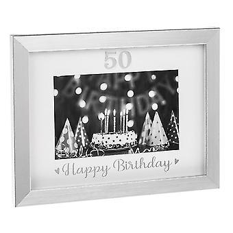 Joe Davies Silver Event 50th Grattis på födelsedagen 6 x 4 Fotoram Jd290324