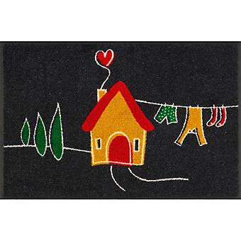 Tiny Home Washable Floor Mats In Multicolour