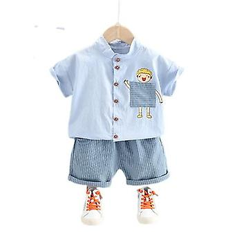 Two-piece Short-sleeved Children's Sports Shorts