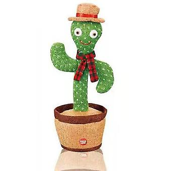 Dancing Cactus Toy Rechargeable Electric Singing Cactus Baby Plush Toy