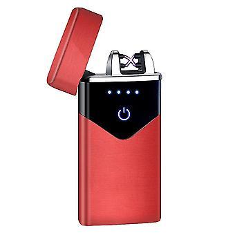 جديد hb-020-الأحمر الساتان أزياء قوس مزدوج الإلكترونية أخف الذكية لمسة USB التعريفي القابلة لإعادة الشحن sm41900