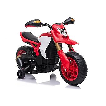 Elektrisch bestuurbare motor met zijwielen – Rood