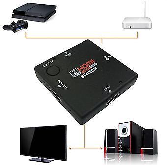 Minivaihtajan määritelmä Video 3-porttinen Hdmi-kytkimen jakaja Hdtv Ps3 1080p
