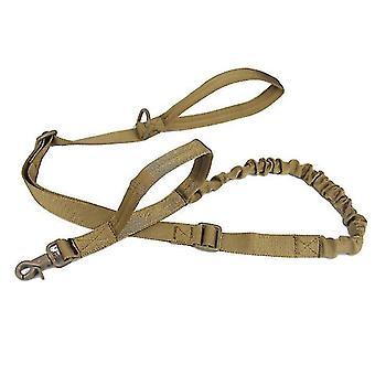 Ulkona nailonkoiran talutushihna, sotilasfani taktinen koiran koulutusvyö (Ruskea)