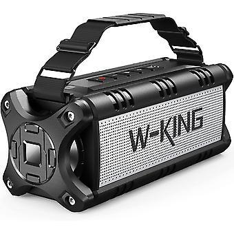 W-KING 50W (70W Peak) Bluetooth динамик IPX6 водонепроницаемый, 24 часа работы, блок питания 8000mAh, диапазон 31 метр, портативный динамик Bluetooth громкоговоритель музыкальный автомат NFC TF card (черный)