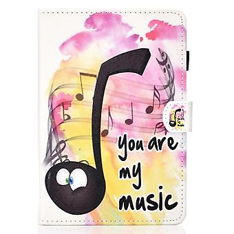 Case For Ipad 9 10.2 2021 Cover With Auto Sleep/wake Pattern Magnetic - Music