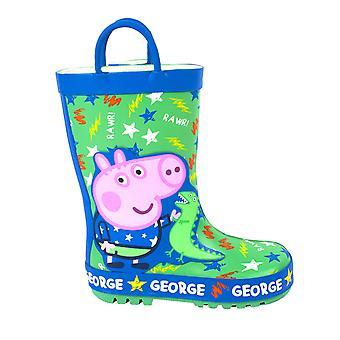 Peppa Gris Gutter George Gris Dinosaur Wellington Støvler