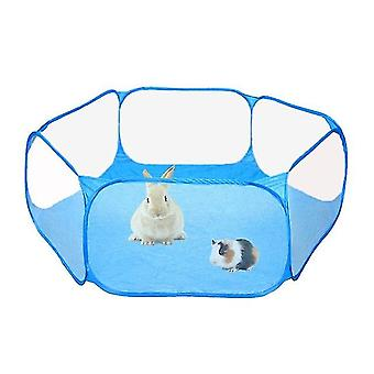 Portable Small Pet Fence - Transparent Pet Playpen Pop Open Folding Yard Fence