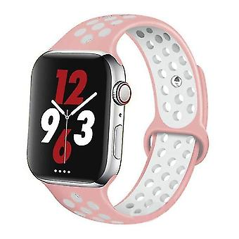 Silicone Wristband Suitable For Apple Watch-breathable Bracelet (set-3)