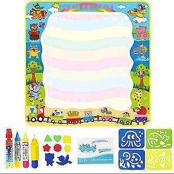 Ordinary children's magic doodle mat with magic pens, water colorful mat for children kids activity az5614