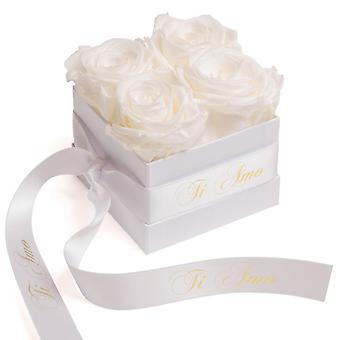 Blumen Box Wei� ewige Rosen haltbar 3 Jahre Wei� Ti Amo Geschenk