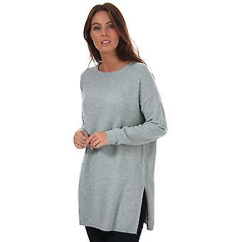 Women's Vero Moda Brilliant Longline Jumper in Grey