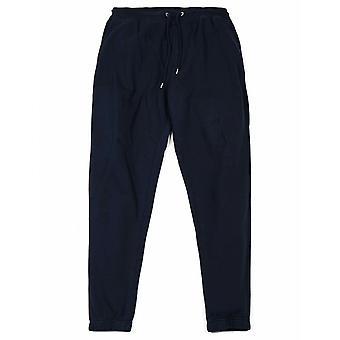 Färgglada standard klassiska organiska sweatpants - Navy Blue