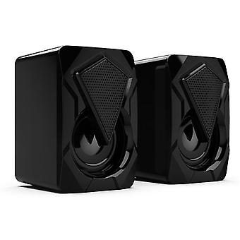3.5mm Wired Computer Speakers Bass Stereo Subwoofer With Colorful LED MP3|Subwoofer(Black)