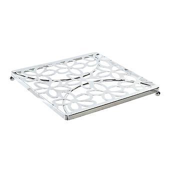 bord matte DKD hjem dekor sølv metall (18 x 18 x 1,5 cm)