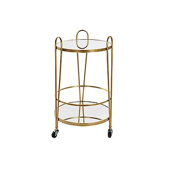 Wózek wielofunkcyjny DKD Home Decor Metal Golden Mirror (40 x 40 x 74 cm)
