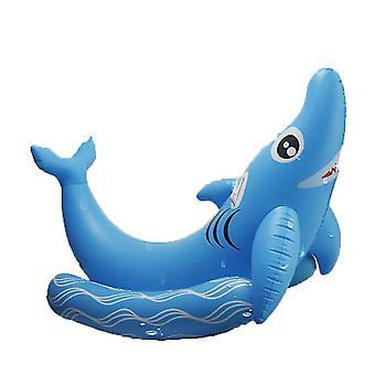 בריכת כרישים מתנפחת מימיגו רפסודה צפה, שפופרת בריכת כרישים, בריכת שחייה מהנה צפה לילדים ומבוגרים כיף קיץ חיצוני