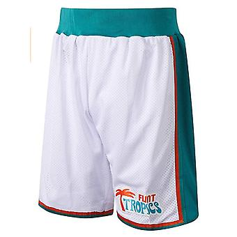 Flint Tropics Semi-pro Basketball Shorts Movie 90s Hip Hop Party Clothing Outdoor Sports Sandbeach Pants Stitched