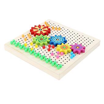 Gomba Nails Peg Board Diy Kit kirakós puzzle mozaik építőelemek oktatási játékok