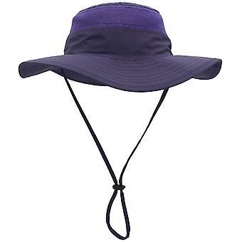 Miesten aurinkohattu Upf 50+ leveä brim ämpäri hattu tuulenpitävät kalastushatut