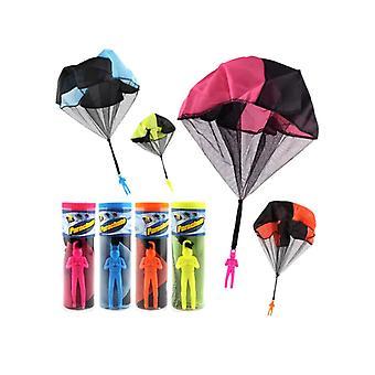 Kinder Hand werfen Fallschirm Spielzeug Babamama 2 Stück (rot blau)