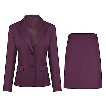Mile Naisten kaksiosainen solid color suit casual slim suit (top & hame) 5 väriä