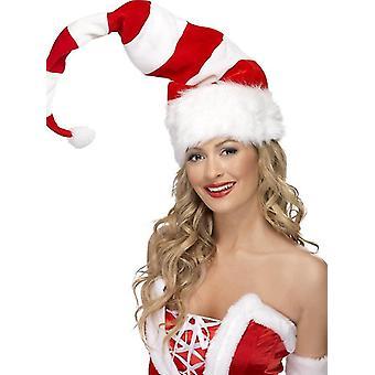 Jultomten hatt enorm älvor Nikolaus Santa hatt mössa striping mönster
