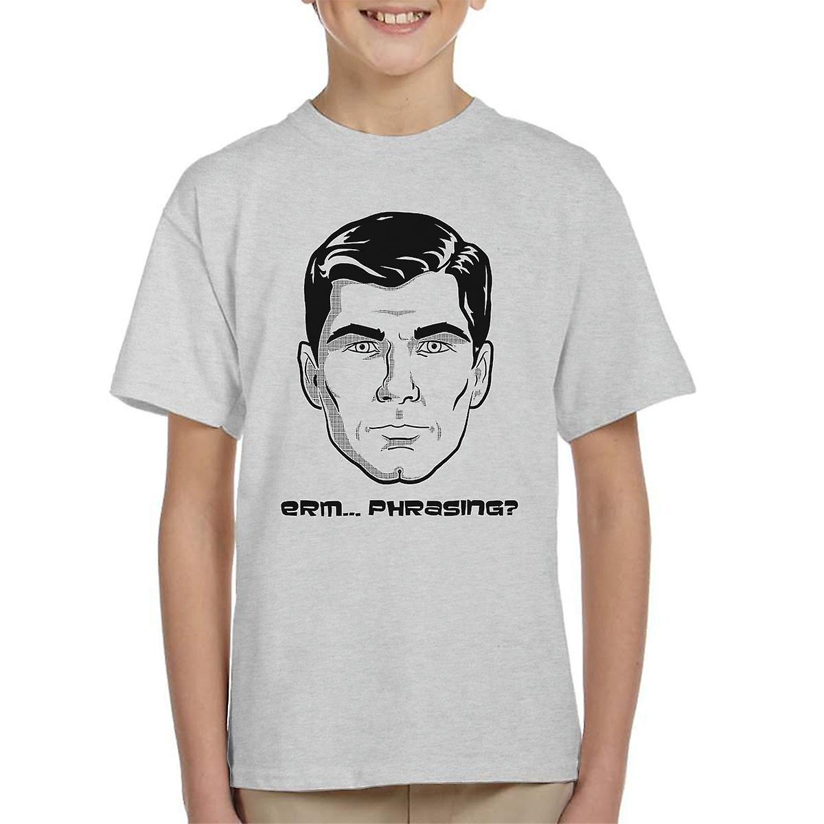 Sterling Archer Erm Phrasing Kid's T-Shirt | Fruugo