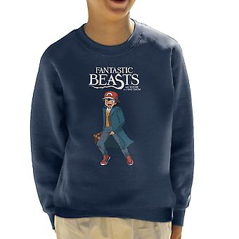 Fantastic Beasts Ash Pokemon Kid's Sweatshirt