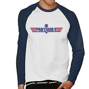 Top Gun Logo Proffessor X X Men Men's Baseball Long Sleeved T-Shirt