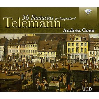 G.P. Telemann - Telemann: 36 Fantasias for Harpsichord [CD] USA import