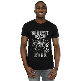 Itsemurha Squad miesten pahin Heroes koskaan t-paita