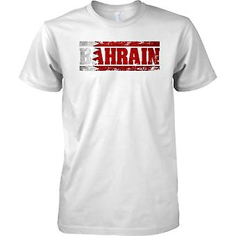 Bahrain Grunge Land Name Flag Effect - T-Shirt für Herren