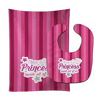 There is a Princess iside all of us Baby Bib & Burp Cloth