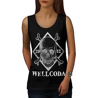 Wellcoda Skull Women BlackTank Top   Wellcoda