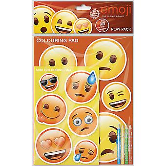 Emoji Play Pack Colouring Pads Pencils Kids Activity Set
