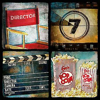 At the Movies II Poster Print by Mollie B (12 x 12)