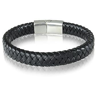 Skipper bracelet leather bracelet magnetic clasp black 7219