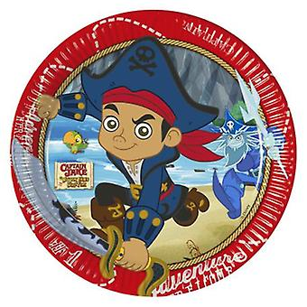 Captain Jake never land pirates party plates Ø 23 cm 8 piece children birthday theme party