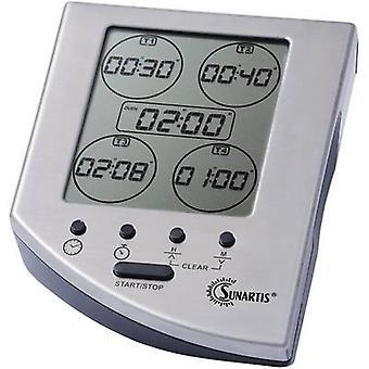 Temporizador de Sunartis CE 341 plata Digital