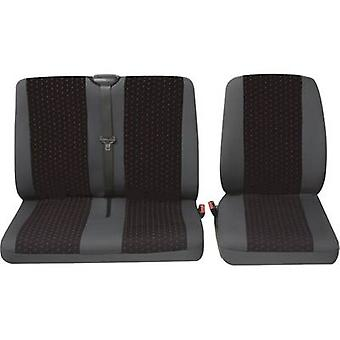 PeTEX Universal Auto Sitzbezug set rot, Anthrazit