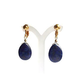 Lapis lazuli boucles d'oreilles Boucles d'oreilles lapis lazuli boucles d'oreilles or plaqué de pierres précieuses