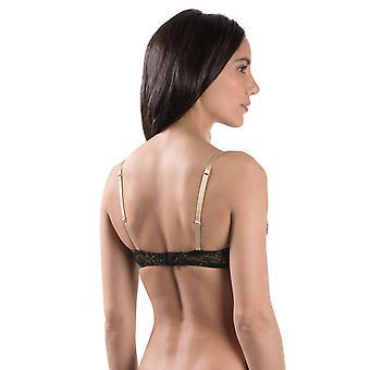 Aubade MD14 femei ' s Femme glamour negru și aur dantelă underwired jumătate ceașcă sutien